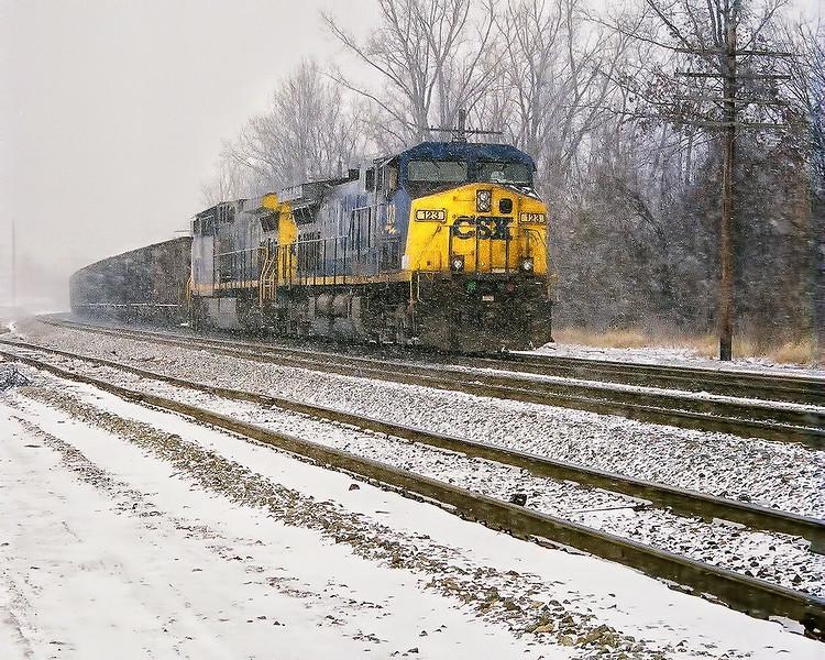 CSX Through the Snow