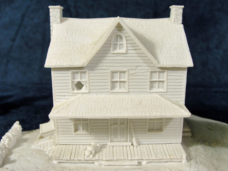 Farmhouse close up.  Seperate porch columns would be added on.