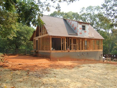 Farmhouse skeleton  south elevation
