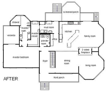 Renovated farmhouse floorplan
