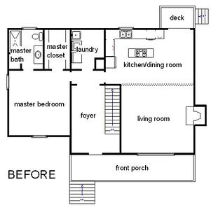 Original farmhouse floorplan