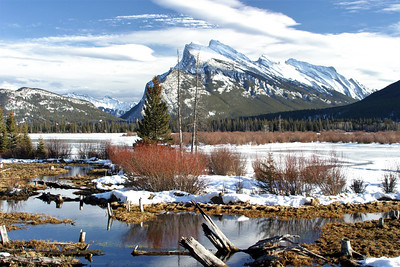 Mt. Rundle & The 2nd Vermillion Lake