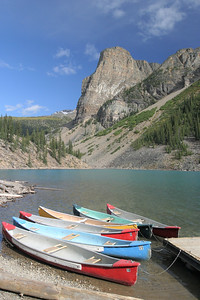 Moraine Lake Canoes and the Tower of Babel