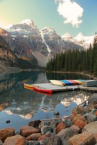Moraine Lake & Canoes