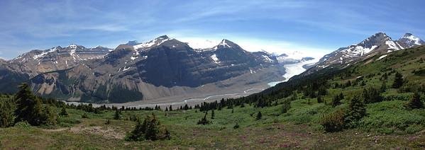 The Saskatchewan Glacier from Parker Ridge