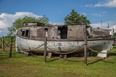Old boats in Cornucopia, WI