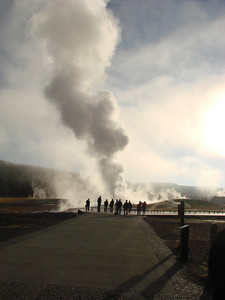 Old Faithful in the early morning