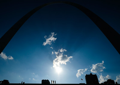 Gateway Arch in St. Louis. What a magnificent piece of  architecture.