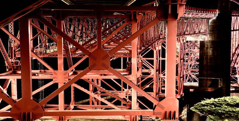 Under the Golden Gate Bridge.