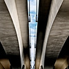 Under new I-35W bridge, Minneapolis