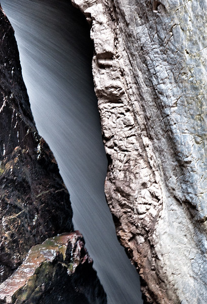 Closeup, Box Canyon Falls, Uncompahgre River, Ouray, Colorado