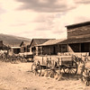 Trailtown in Cody, Wyoming. This is a collection of authentic and historic western buildings arranged as a typical old west town, with famous buildings such as a cabin used by the Sundance Kid.