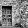 Door of Mission Church in San Antonio, Texas.