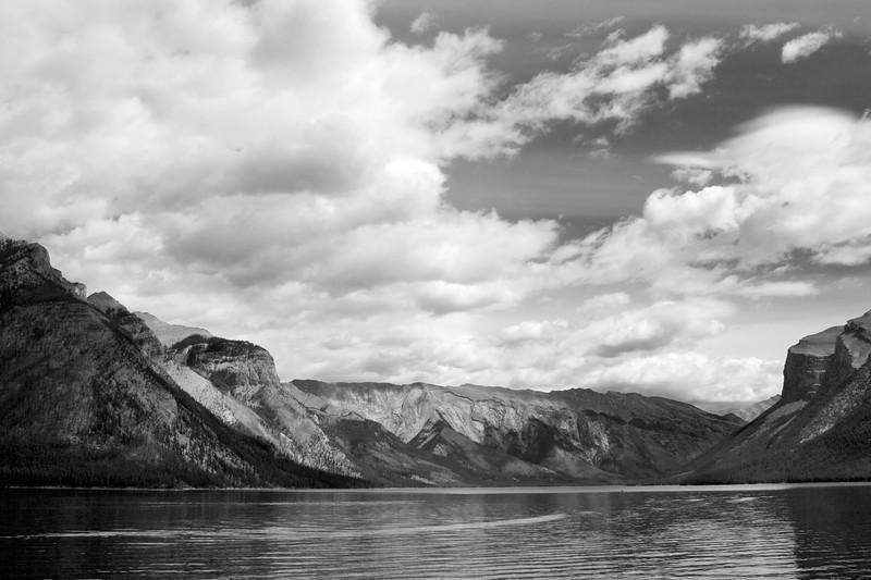 Lake Minnewanka in Alberta Canada.