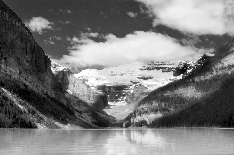 Lake Louise - Black and White photo in Canada