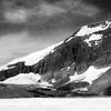 Athabasca Glacier - Black and White photo in Canada