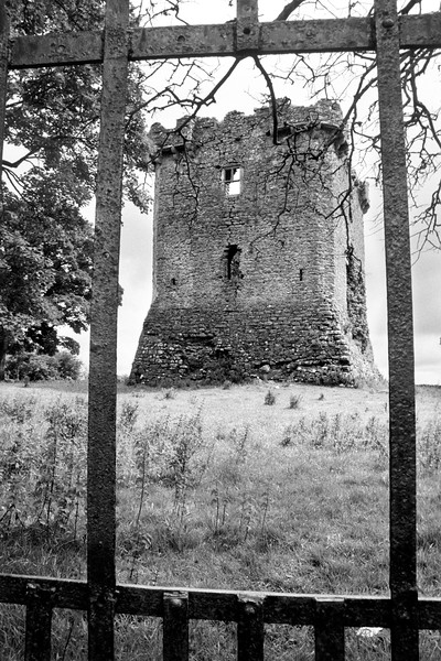 Irish Castle. Black and white photo taken in Ireland with Scalia BW slide film.