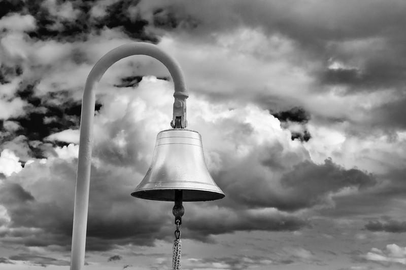 Ship's bell on Cruise Ship Volendam.