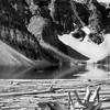 Moraine Lake  - Black and White photo in Canada