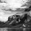 Lake Minnewanka - Black and White photo in Canada