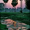 India, sunset near Bodh Gaya