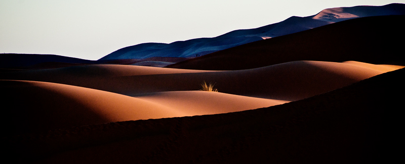 Morocco, Sahara sunrise