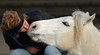 Laurie Taylor photo.  Twix gives us a kiss.