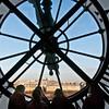 Paris, viewing Montmartre and Sacre Coeur through clock at Orsay Museum