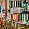Colorful house in Nyon, Switzerland