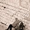 Dubrovnik, Croatia, morning at city walls