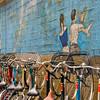 Tokyo, bikes and mural
