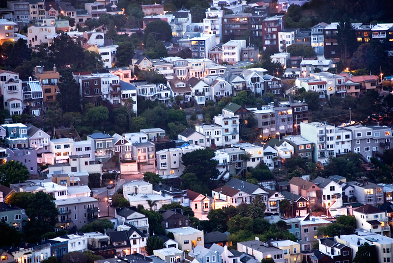 San Francisco, night view from Twin Peaks