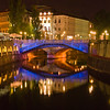 Ljubljana, Slovenia, at night