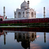 Agra, India, Taj Mahal from across Varuna River