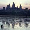 Cambodia, Angkor Wat, sunrise