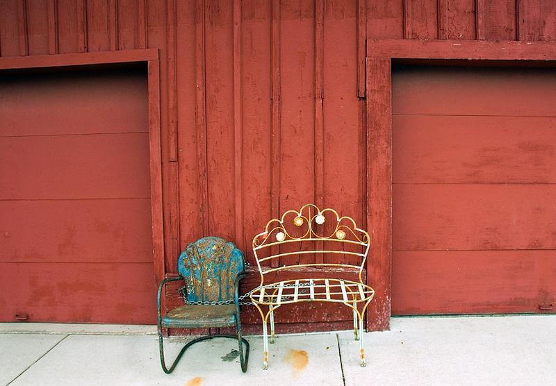 Chained chairs, Sleepy Eye, Minnesota