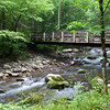 Bridge over the Middle Prong of the Little Pigeon River in the Greenbrier section on the Tennessee side of the Great Smoky Mountains National Park.