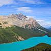 Peyto Lake on the Icefields Parkway in Banff National Park, Alberta, Canada.