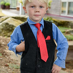 Young Boy at Wedding