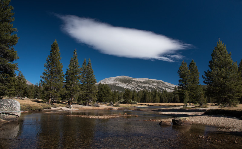 Cloud over Tuolumne River