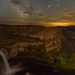 Palouse Falls and Milky Way