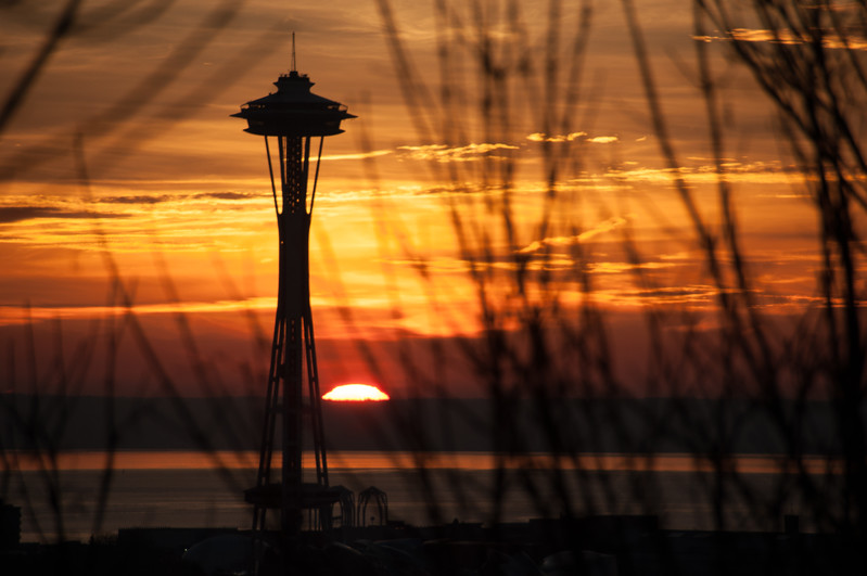 Space Needle and Sunset