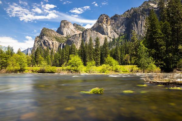 granite towers, bridal veil falls and merced river!