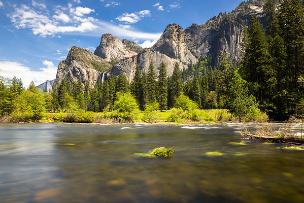 granite towers, bridal veil falls and merced river!
