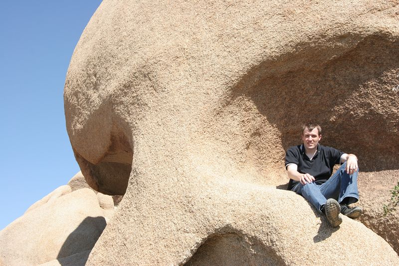 This is me sitting on Skull Rock in Joshua Tree National Park.
