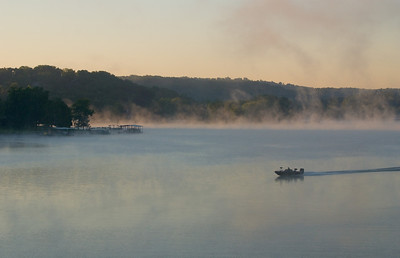 A crisp late summer morning on the Lake of the Ozarks.