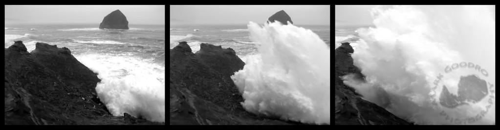 100 foot+ breaker at Cape Kiwanda, Oregon coast.