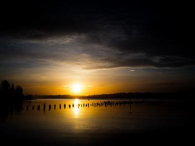 Sunset at Juanita Bay