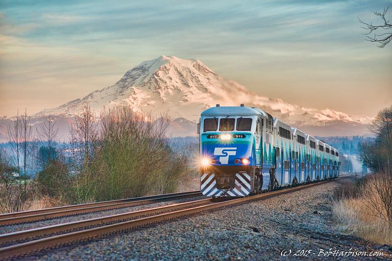 Sounder and Mount Rainier
