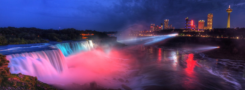 View of Niagara Falls from New York.